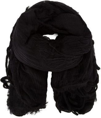 Forme D'expression textured fringed scarf