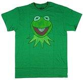 Disney Men's Muppets Kermit Big Face T-Shirt