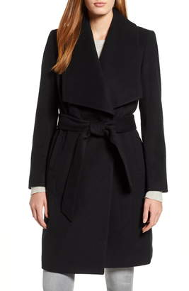 Cole Haan Slick Wool Blend Wrap Coat