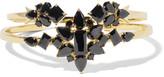 Noir Set of two gold-tone cubic zirconia cuffs