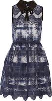 Marissa Webb Owen embroidered silk-organza mini dress