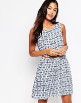 Iska Tile Print Dress with Belt