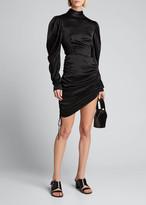 MATÉRIEL Satin Draped Mini Dress