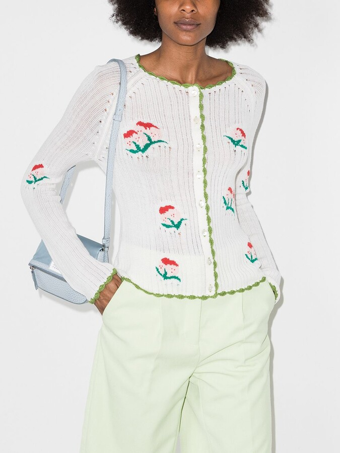 Thumbnail for your product : yuhan wang Floral-Jacquard Cardigan