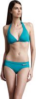 Michael Kors South Hampton Solids Shimmer Halter Bikini Top
