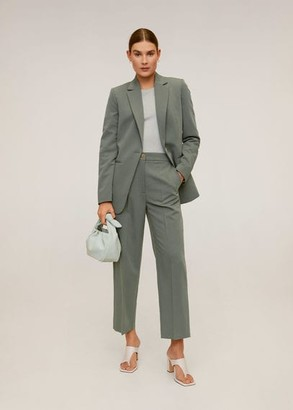 MANGO Suit blazer green - 1 - Women