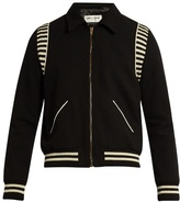 Saint Laurent Point-collar Wool Bomber Jacket