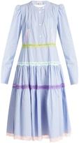 Natasha Zinko Gingham lace-trimmed cotton dress