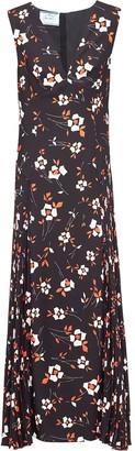 Prada Floral Print V-Neck Dress