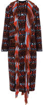 Peter Pilotto Crystal-embellished Fringed Wool Coat - Red