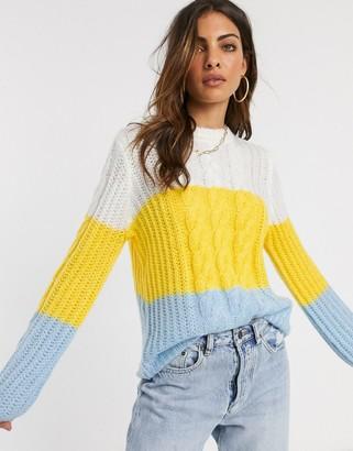 Y.A.S long sleeve knit jumper-Multi