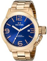 TW Steel Men's CB182 Rose Gold-Tone Stainless Steel Watch with Blue Dial