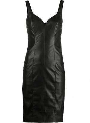 Pinko Faux-Leather Fitted Mini Dress