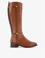 Thumbnail for your product : Dune Tap double-buckle knee-high leather riding boots
