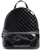 BP Quilted Faux Patent Backpack
