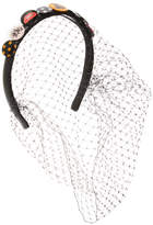 RED Valentino Women's Printed Appliques Headband