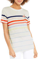 Oasis Rainbow Stripe Flamingo T-Shirt, Multi