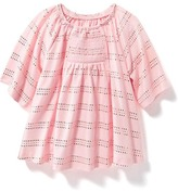 Old Navy Smocked Foil-Print Top for Baby