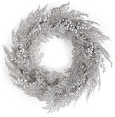 Marks and Spencer Large Silver Glitter Wreath with Berries