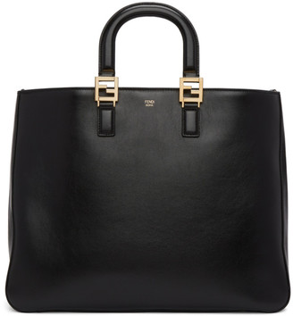 Fendi Black Leather Large Tote