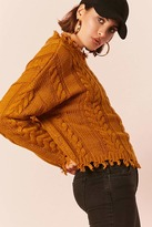 LOVE21 LOVE 21 Frayed Cable Knit Sweater