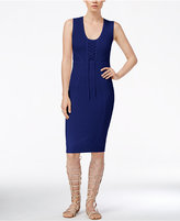 Rachel Roy Lace-Up Knit Dress