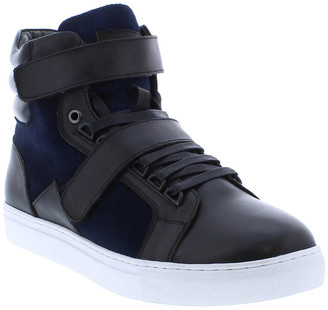 French Connection Orsay Leather & Suede Hi Top Sneaker