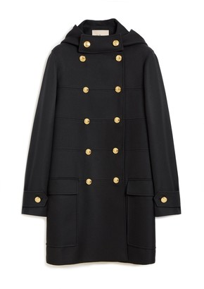 Mulberry Elodie Coat Black Winter Twill