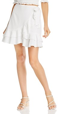 Aqua Ruffled Faux-Wrap Mini Skirt - 100% Exclusive