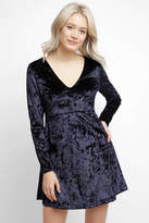Sam&lavi Sam & Lavi Deep V Velvet Mini Dress
