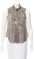 Jason Wu Printed Tie-Accented Top