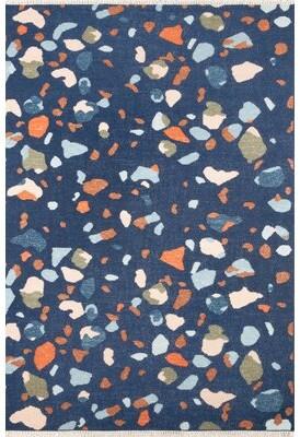 "JEM Terri Abstract Handmade Flatweave Wool Navy Area Rug Novogratz Rug Size: Runner 2'3"" x 8'"