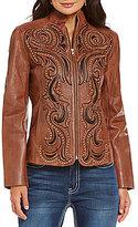 Reba Sierra Sunrise Embellished Leather Jacket