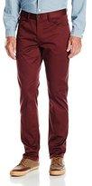 Perry Ellis Men's Slim Fit Solid Sateen 5 Pocket Pant