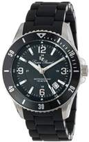 Lucien Piccard Women's LP-93608-11 Mocassino Black Dial Black Silicone Band Watch