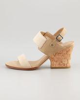 Eileen Fisher Plex Stretch Wedge Sandal, Linen