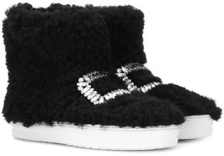 Roger Vivier Sneaky Viv' high-top fur sneakers