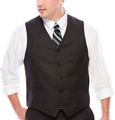 Jf J.Ferrar Black Nailhead Suit Vest - Big & Tall