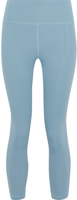 Iris & Ink Bonnie Cropped Perforated Stretch Leggings