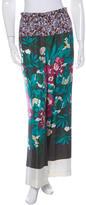 Dries Van Noten Floral Print Silk Pants