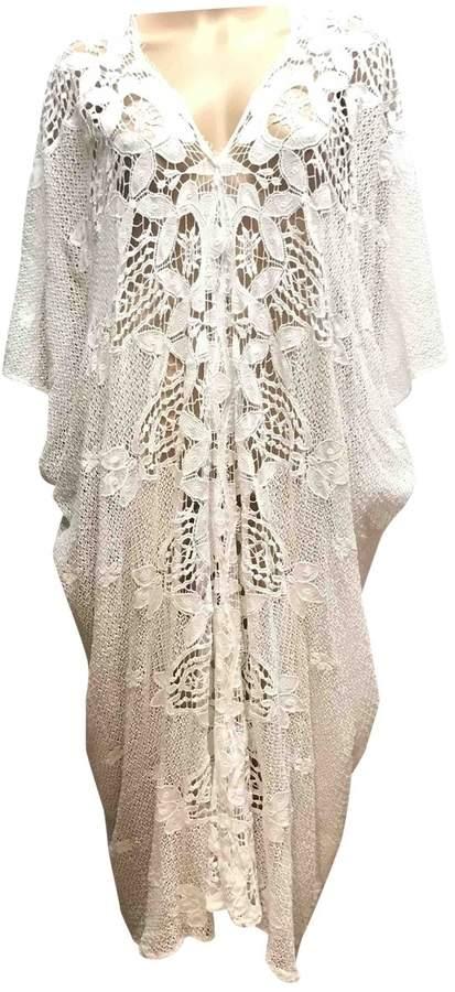 Miguelina White Cotton Dress for Women