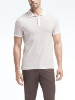 Banana Republic Slim Luxury-Touch Print Polo