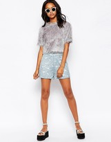 Motel Carlee Culotte Shorts in Lace