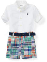 Ralph Lauren Oxford Shirt w/ Patchwork Shorts, Size 3-12 Months