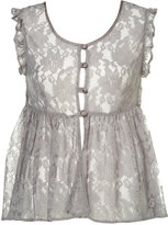 Lace Empire Frill Blouse
