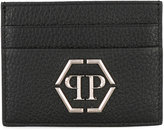 Philipp Plein embellished card holder - men - Calf Leather - One Size