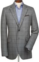 Charles Tyrwhitt Grey with navy slim fit check Yorkshire worsted jacket