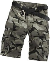 AUBIG Mens Camouflage Military Workwear Cargo Shorts Pants