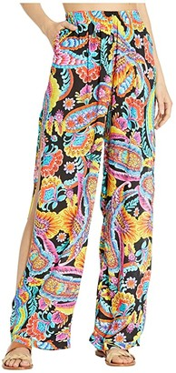 Luli Fama Moon Nights Split Side Wide Leg Pants Cover-Up (Multi) Women's Swimwear