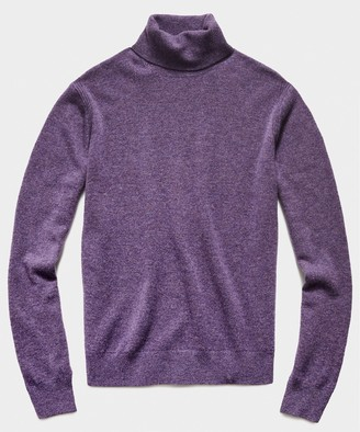 Todd Snyder Cashmere Turtleneck in Heather Purple